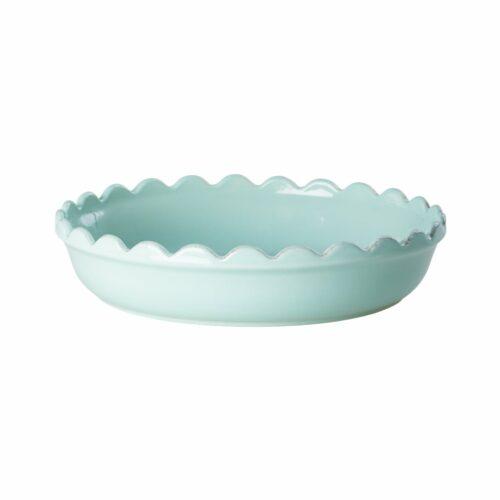 Rice stoneware pie dish Small Mint