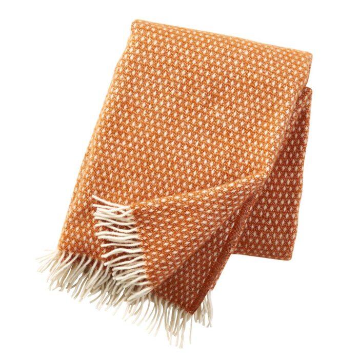 Klippan plaid knut orange 1.3x1.8m