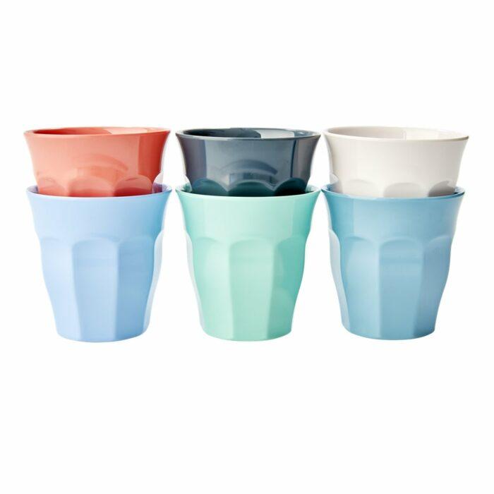Rice cup set/6 kleuren MHAPXC
