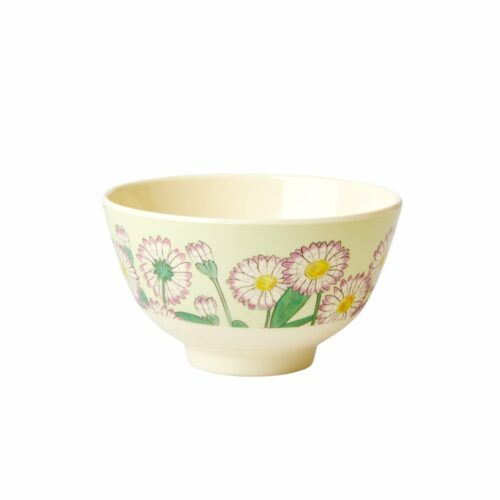 Rice melamine bowl small daisy