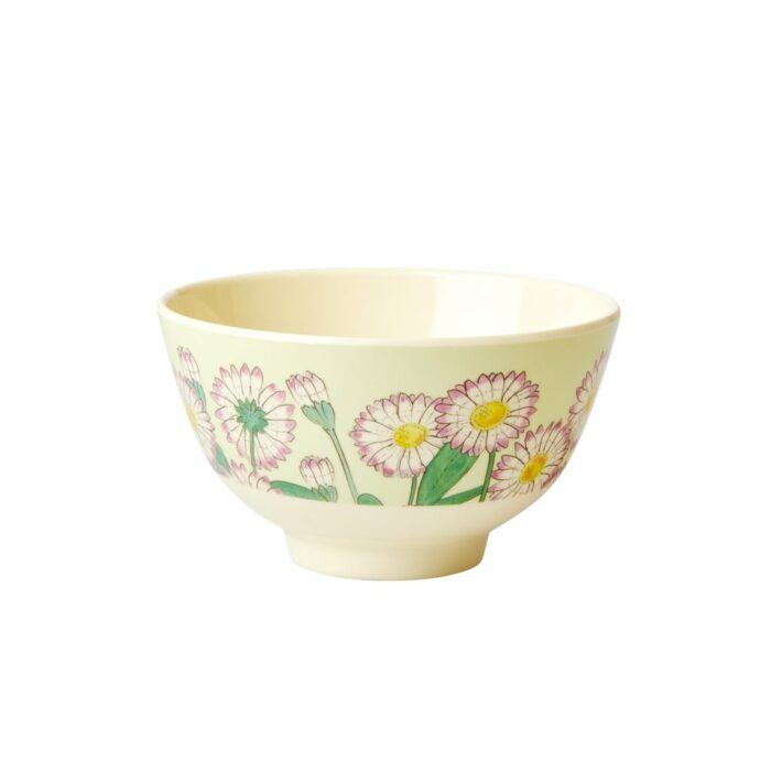 Rice melamine bowl small daisy