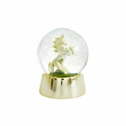 Rice snow globe unicorn
