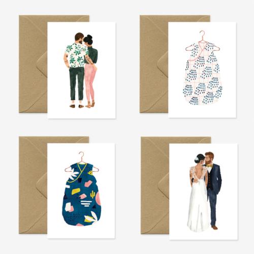 ATWTS kaarten set Baby & Love
