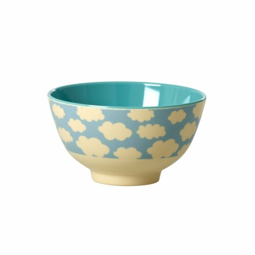 Rice melamine bowl cloud blue
