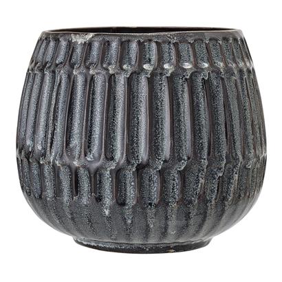 BL flowerpot Blue stoneware L