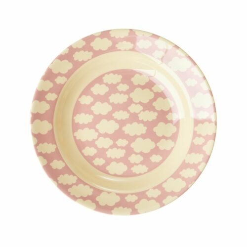 Rice melamine plate deep 20cm roze