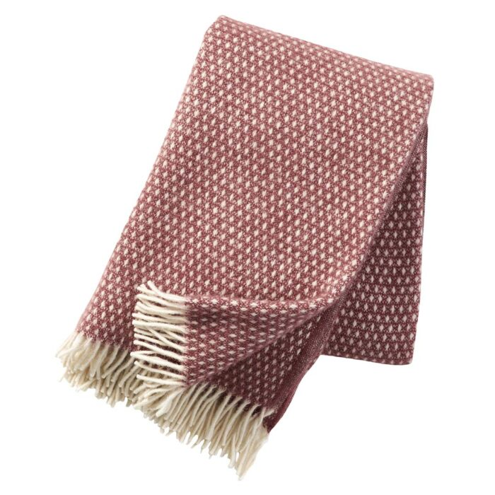 Klippan plaid knut rose brown 1.3x2m
