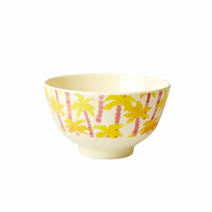 Rice melamine bowl small Palm Tree