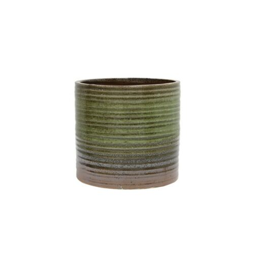 HK ceramic flowerpot green/brown Medium