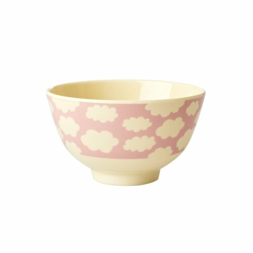 Rice melamine bowl cloud pink