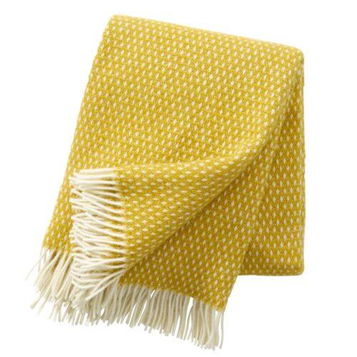 Klippan plaid knut saffron 1.3x2m