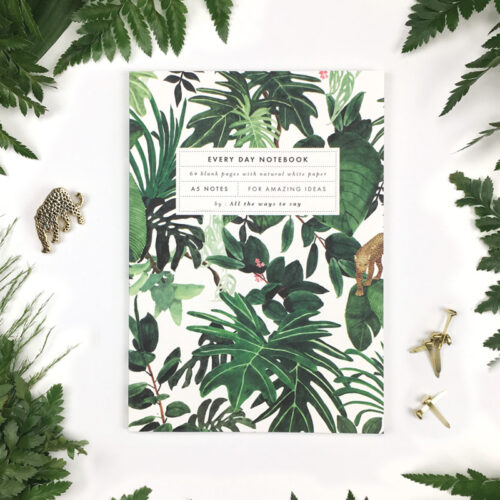 Notebook Jungle A5 blanco