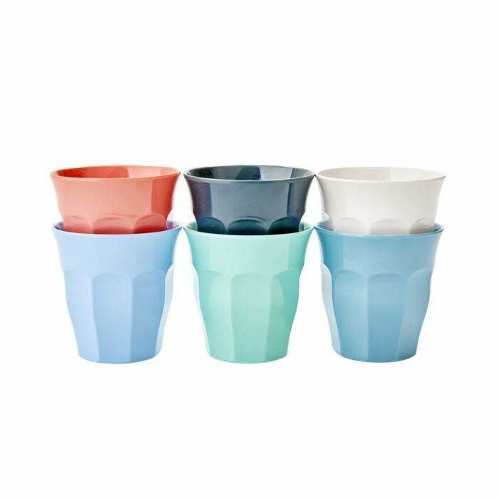 Rice cup set/6 kleuren SHAPPXC