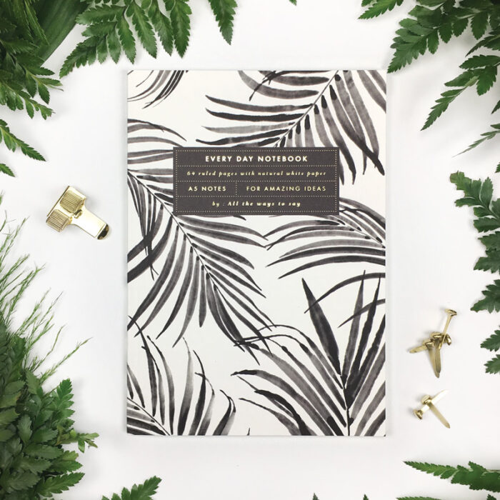 Notebook Palmtree A5 lijntjes