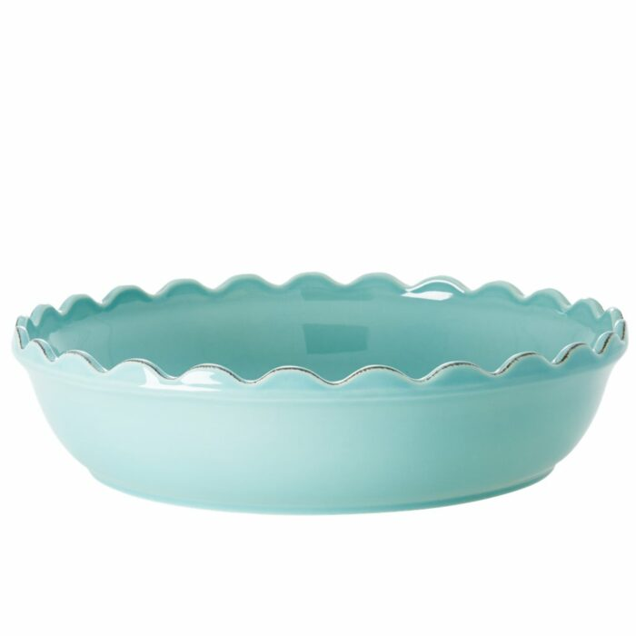 Rice stoneware pie dish Large Mint
