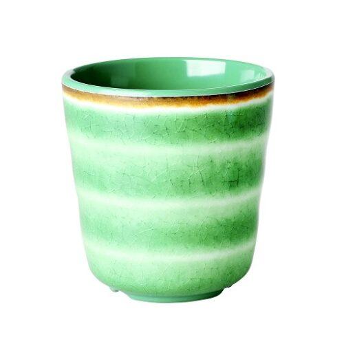 Rice melamine cup swirl green