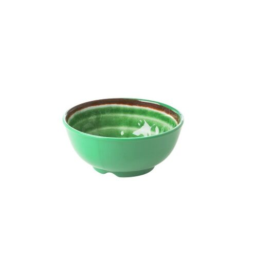 Rice melamine bowl swirl green small