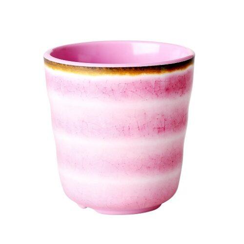 Rice melamine cup swirl pink