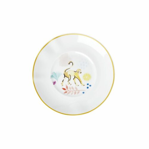 Rice porcelain dessert plate monkey print