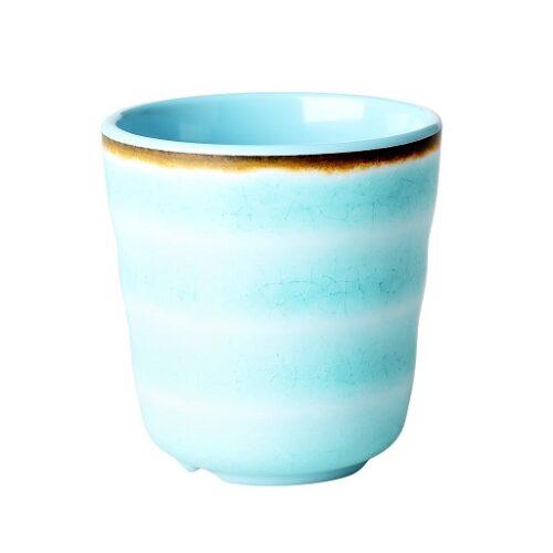 Rice melamine cup swirl aqua