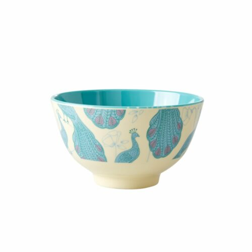 Rice melamine bowl small peacock