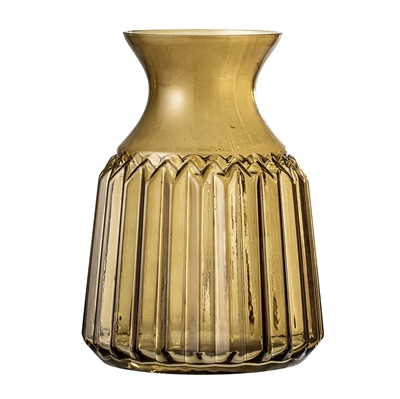 BL vase brown glass