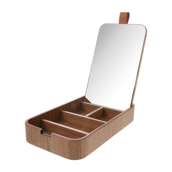 HK Willow Wooden mirror box