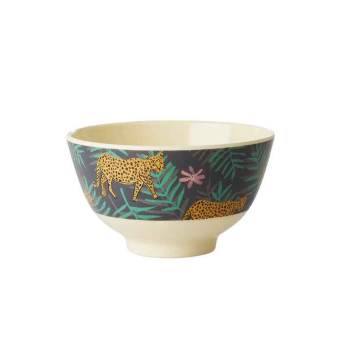 Rice melamine bowl small leopard