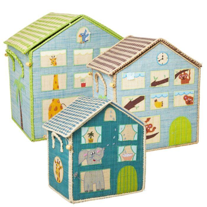 Rice Toy basket jungle house Large B