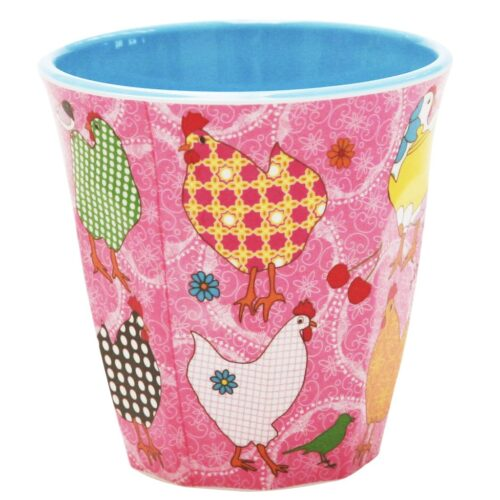 Rice cup M fav hen roze