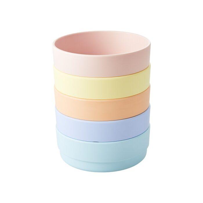 Rice natural fibre bowl pink
