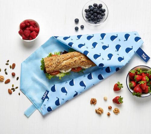Boc'n'Roll sandwich wrapper Whales