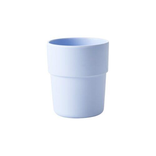 Rice natural fibre cup blue