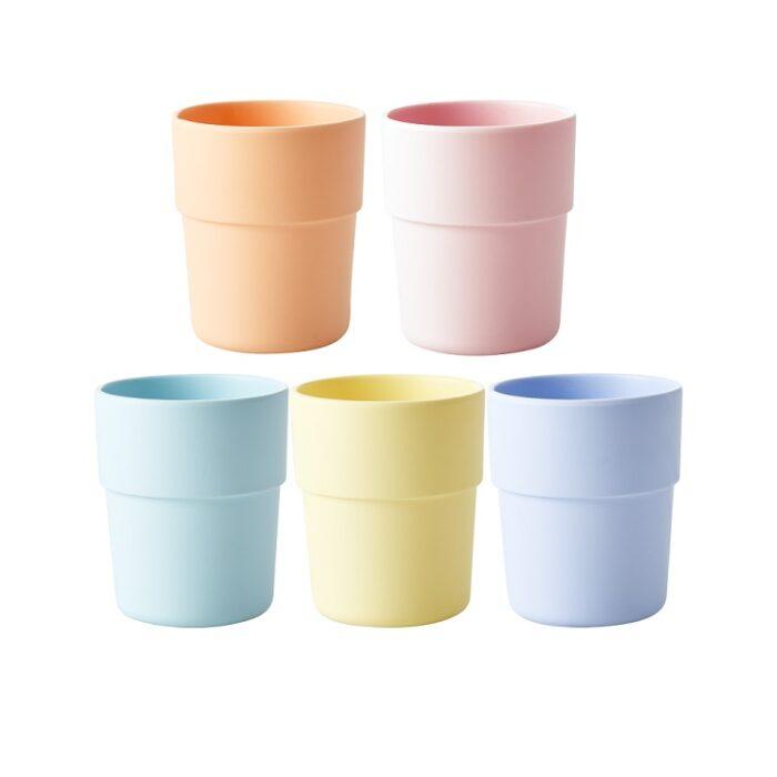 Rice natural fibre cup yellow
