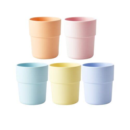 Rice natural fibre cup pink