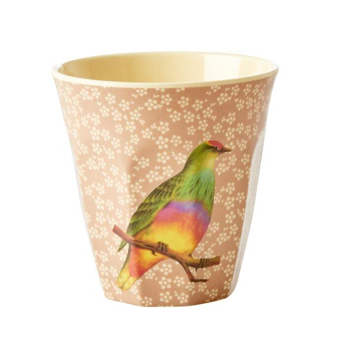 Rice cup M vintage bird nougat