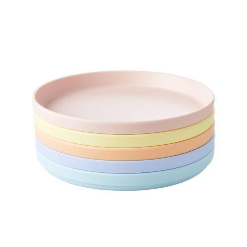 Rice natural fibre plate geel