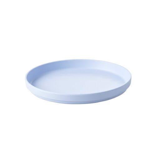 Rice natural fibre plate blue