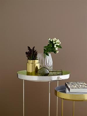 BL vase gold stoneware 10xh12,5cm