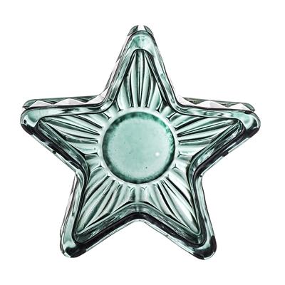 BL votive green glass ster