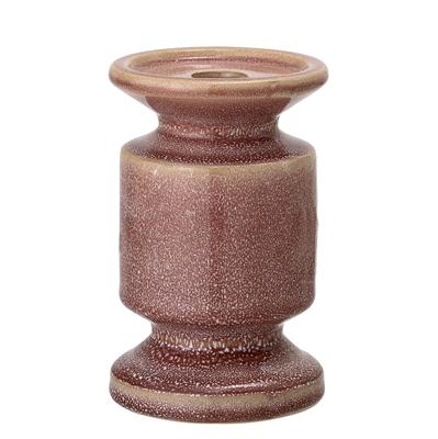 BL Candlestick rose stoneware 9xh14,5cm