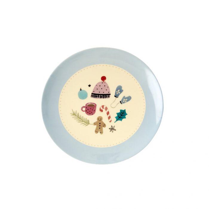 Rice mel dessert plate xmas muts