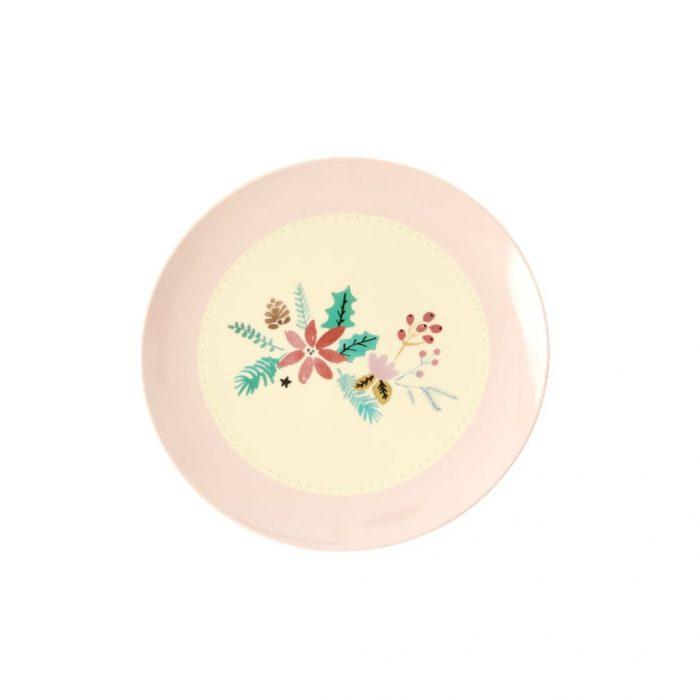 Rice mel dessert plate xmas bloem