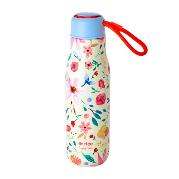 Rice drinking bottle Flower Print